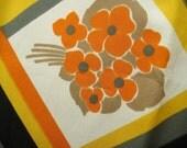 Vintage Scarf - Trevira - Orange Poppies