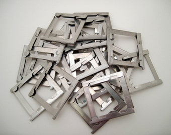 100 Vintage Metal Slide Frames - 35mm Slides - metal frames - small frames