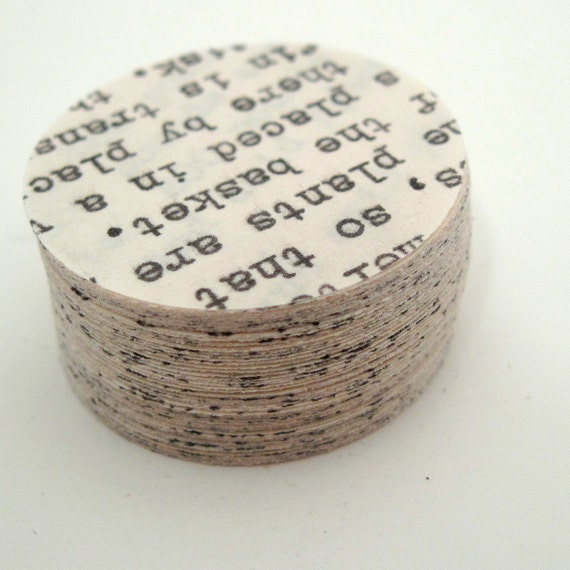 Paper Circles - Typewriter Letter - Circle Punches - Die Cut