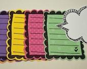 Rainbow Journaling Blocks Set
