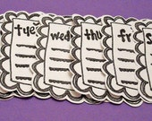 Naked Days of the Week Journaling Tags