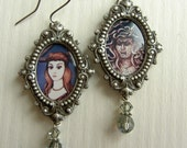 Gorgon Earrings - Famous Changing Portrait Earrings - In Homage - Tribute