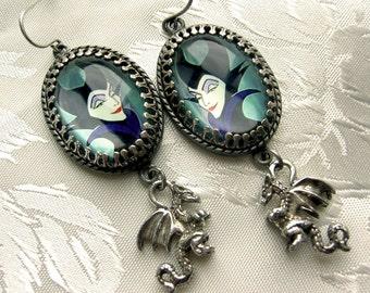 Dragonlady - My Favorite Villain - Tribute Earrings