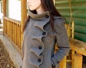 SALE  COTYLEE Ruffle front fleece jacket (LINED)