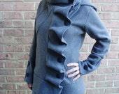 SALE  COTYLEE Ruffle front fleece jacket (UNLINED)