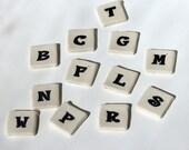 """Mosaic Ceramic Tile Porcelain Letters """"Felix"""" font Made to Order"""