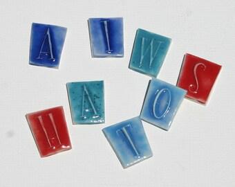 "Mosaic Tile Letters Ceramic Porcelain ""Retro"" Made to Order"