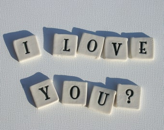 """Mosaic Tile Ceramic Porcelain Letters """"Zousa"""" font Made to Order"""