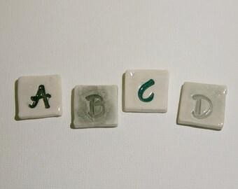 """Mosaic Tile Porcelain Ceramic Letters """"Zeke"""" font Made to Order"""
