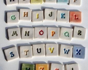 """Mosaic Tile Porcelain Ceramic Letters """"Mars"""" font Made to Order"""