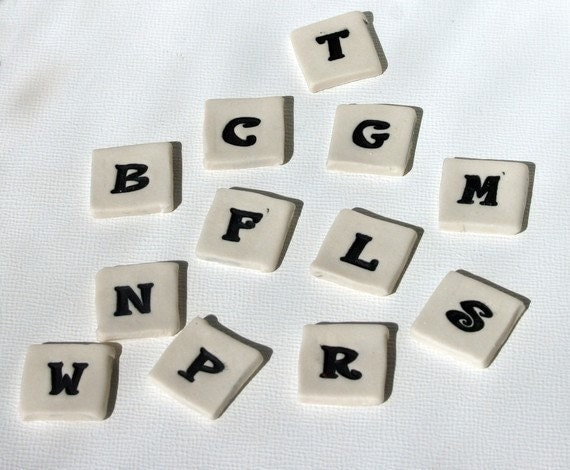"Mosaic Ceramic Tile Porcelain Letters ""Felix"" font Made to Order"