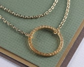 Double Stranded Gold Circle Necklace