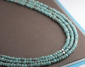 Multi Strand Turquoise and Silver Necklace Turquoise Necklace