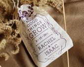 Personalized Wedding Favor Seed Bombs - Edible Flowers Herbs Perfect for Rustic Country Ceremony