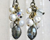 TALEUS Boudoir Session Crystal And Pearl Boho Chic Earrings