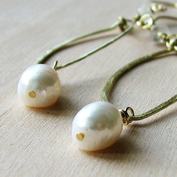 RESERVED for Lopnmop - Free Shipping - Torun Sublime Philosophy Pearl Earrings