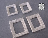 Ornate Mini Frames - Set of 4 - Scrapbooking, Jewelry Design, Altered Art - Distressed & Shabby