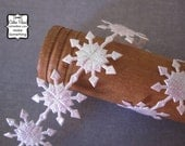 Snowflake Ribbon - 3 yards of Trim - AB White - Garland Scrapbooking Gift Wrapping - frozen party