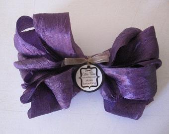 crepe ribbon - DISTRESSED - Lavender - crinkle aged - 5 yards
