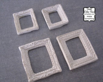 Ornate Mini Frames - Set of 4 - Scrapbooking, Jewelry Design, Altered Art - Distressed & Shabby