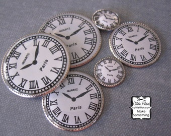 Watch Faces - set of 6 - Vintage Look -  Altered Art, Scrapbooking,Jewelry Making