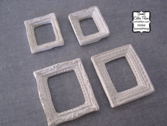 ornate mini frames set of 4 scrapbooking jewelry design altered art