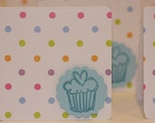 Cupcakes and Polka Dots- Mini Card Set