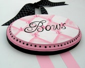 Chic French Inspired Bow Holder Custom Personalization