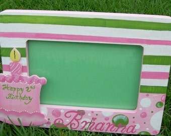 Painted Boutique Birthday Frame Custom Color Choices