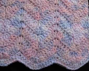 Crocheted Baby Ripple Blanket-Warm and Cozy