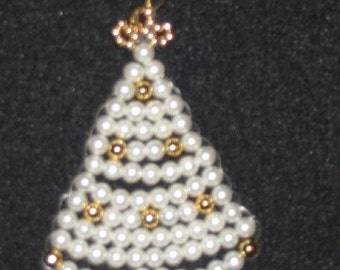 Christmas Tree Beaded Ornament