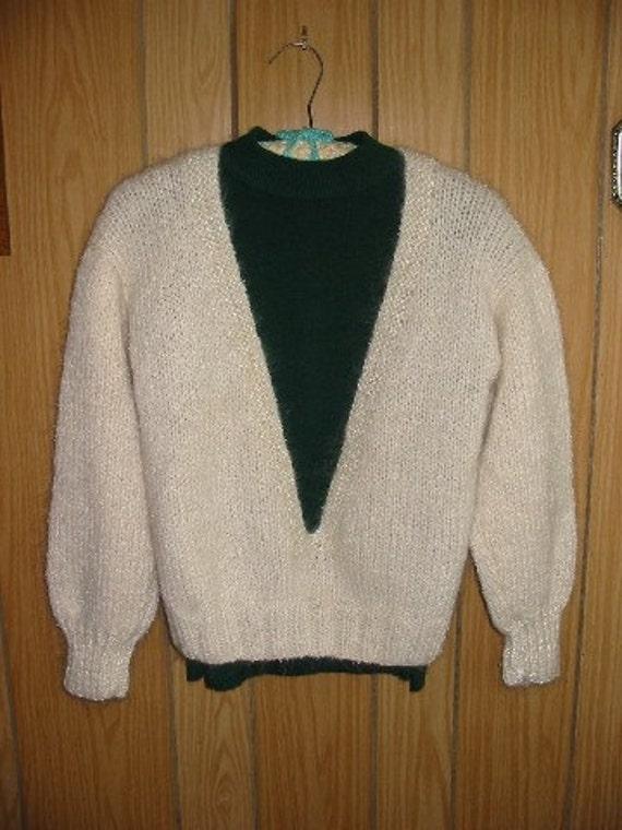 V-Neck Long Sleeve Wool Blend Sweater for Women
