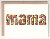 New Floral Mama Card