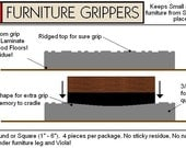 Stay Furniture Grippers -  Keep furniture from sliding around and scratching hardwood, laminate and tile floors- 3 inch