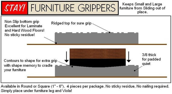 Items Similar To Stay Furniture Grippers Keep Furniture From Sliding Around And Scratching