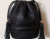 Coco - Awesome Leather Bucket Bag with Chain Strap.