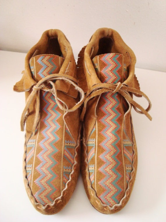 Scout - Awesome Suede Patterned Moccasin Booties.