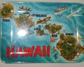 Small Vintage plastic tray - Souvenir HAWAII  made in Italy