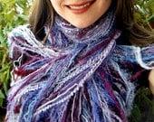 Amethyst Scarf with Lavender, Purple Fringe Scarf, Lilac, Maroon, Burgundy - Fringe O Rama Purple Scarf, Handmade in the USA Accessories