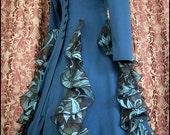 """Kambriel - Peacock Queen Coatdress (38"""" chest w/ adjustable lacing)"""