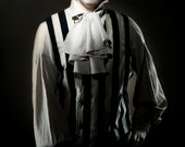 Black & White Striped Vertigo Vest by Kambriel - Designer Sample - Brand New and Ready to Ship!