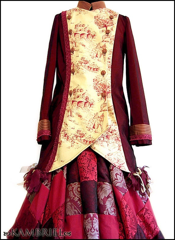 Running Away with the Circus - Red & Gold Lady Ringmaster Jacket by Kambriel