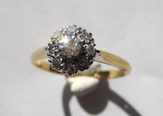 Antique Victorian/Edwardian Diamond Cluster Flowerhead Ring