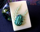 Soap. Tree Frog on Fern with scent of Gardenia. Glycerin and Shea Butter.