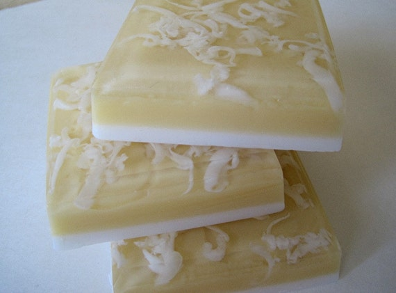 Banana Coconut. Soap made with real Coconut Milk. Vegan.