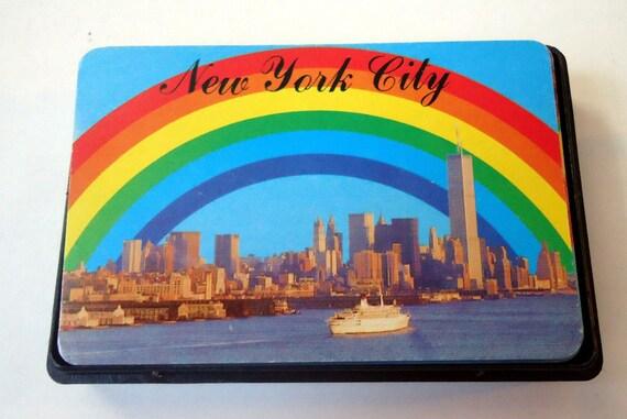 VINTAGE New York City PLAYING CARDS Rainbow