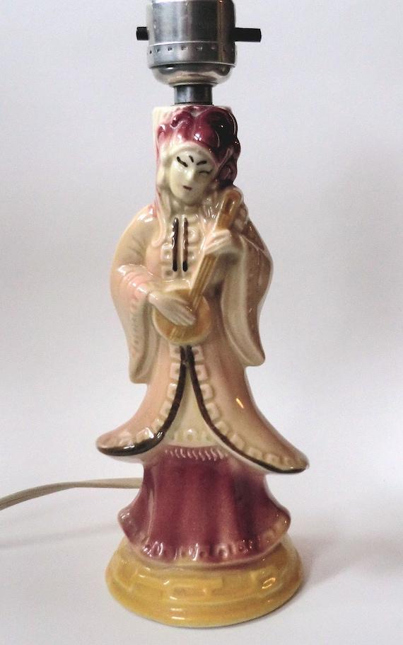 Vintage Asian Figurine Lamp