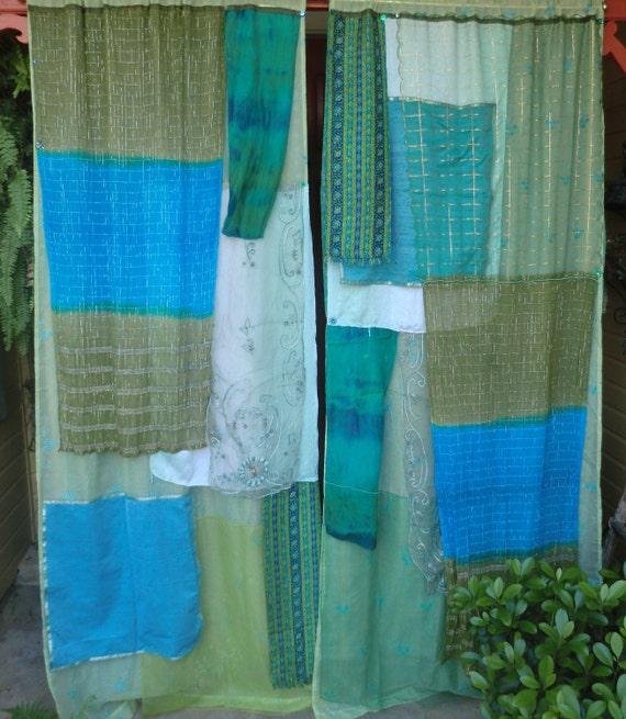 "Handmade GYPSY Curtains -  ""The Age of Aquarius"" - Bohemian Global Hippie Style"
