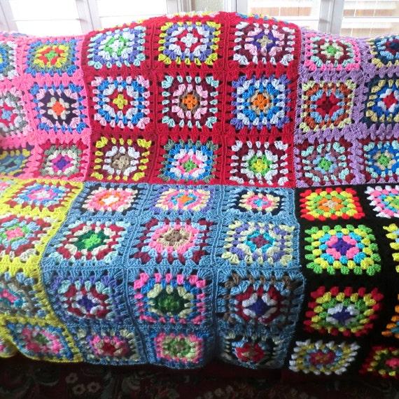 Handmade Granny Square Afghan