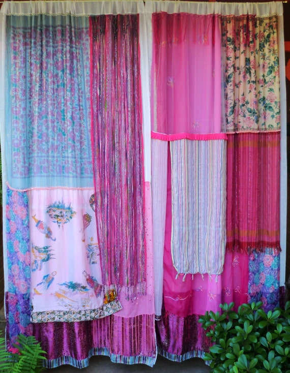 ROCK THE CASBAH - Handmade Gypsy Curtains Bohemian Global Hippie Ethic Style